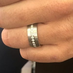 Other - Tungsten ring with Diamonds